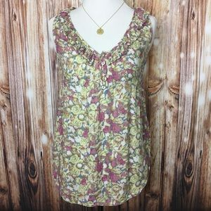FOREVER 21 Floral Sleeveless Blouse Top